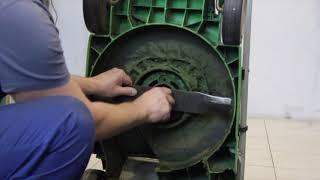 Ремонт газонокосарки Вікінг. Заміна ножа на косарці.
