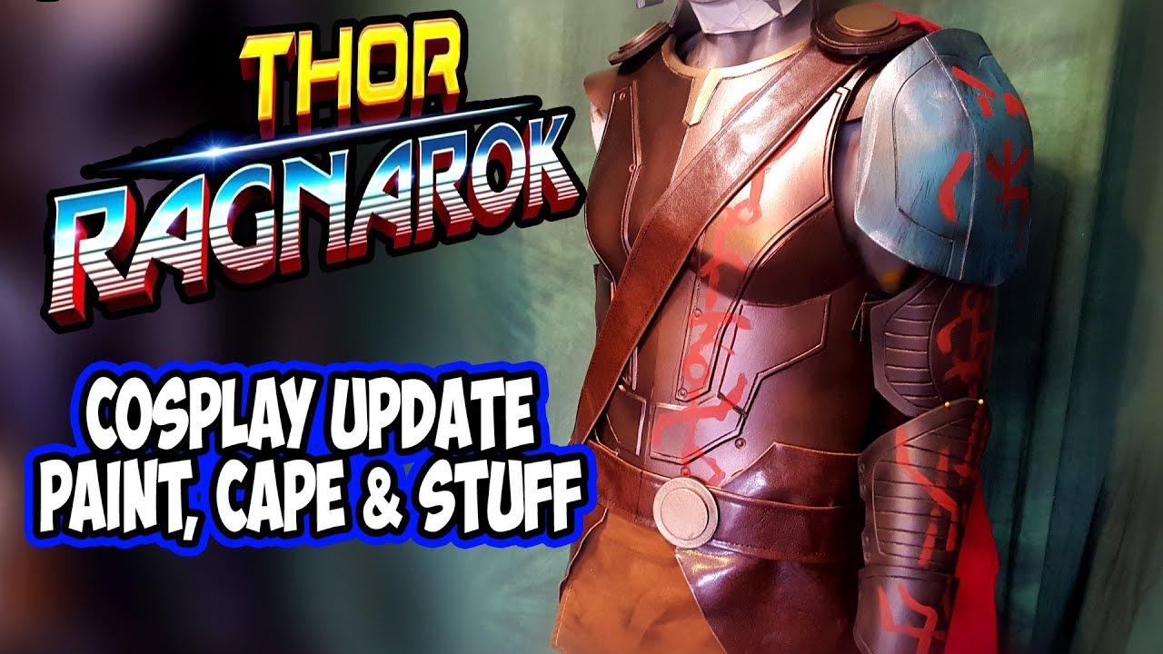 diy thor ragnarok costume cosplay part 2 paint stuff youtube