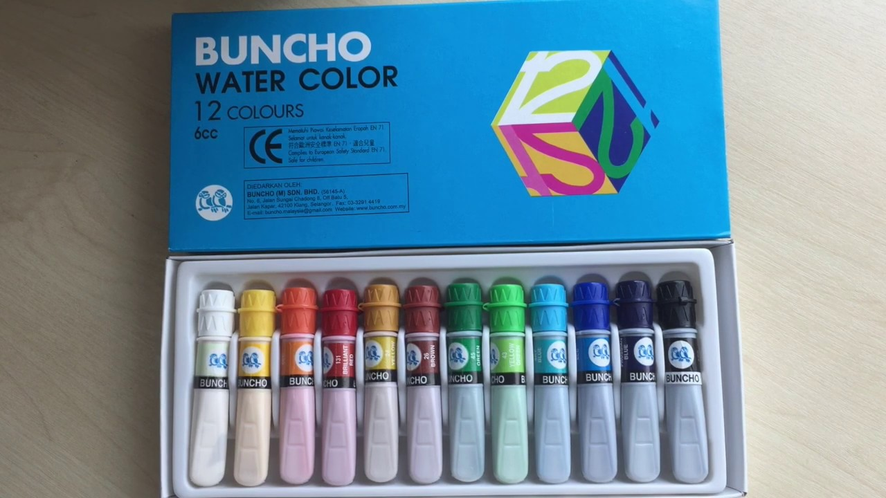 Buncho Watercolour Swatches Student Grade Beginner Watercolour