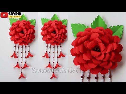 BEAUTIFUL ROSE FLOWER DECORATION IDEAS - MEMBUAT HIASAN DINDING CANTIK BUNGA MAWAR HIAS