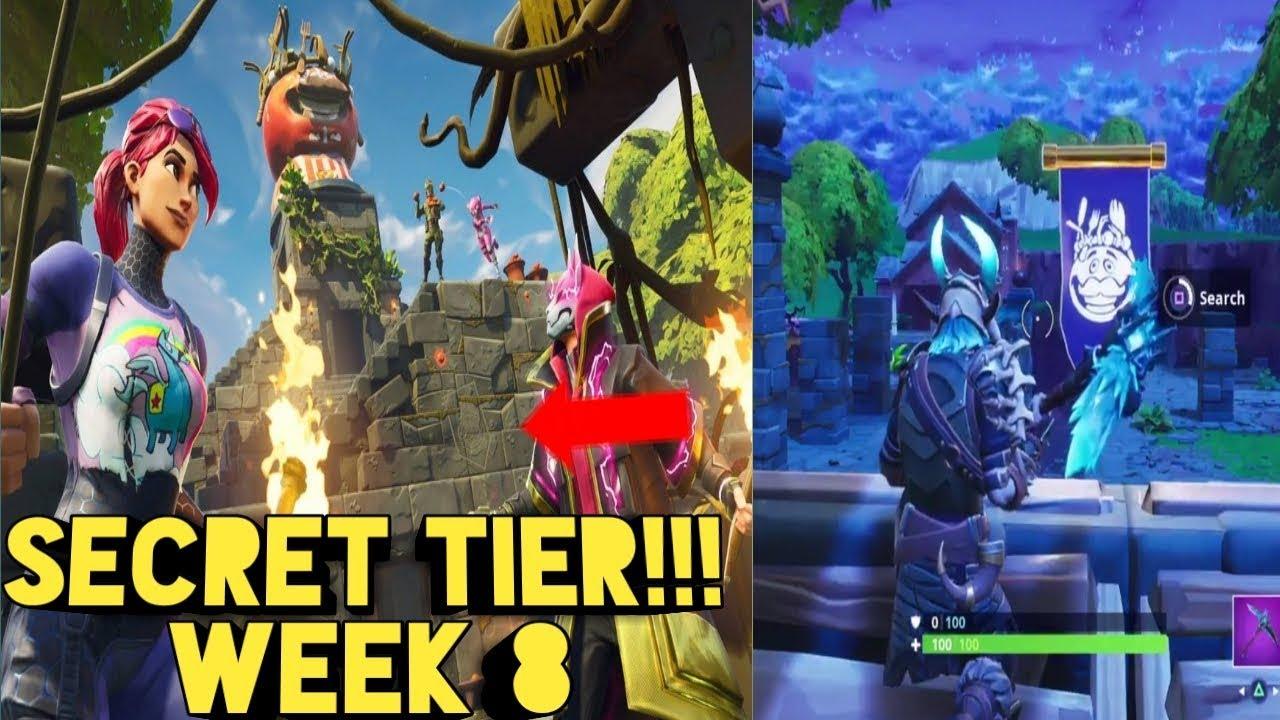 Awesome Secret Battle Star Week 8 Season 5 Fortnite Secret Banner