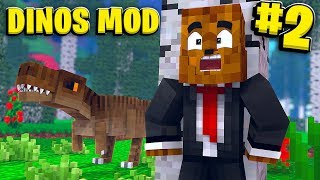Our First Baby Dino (The Dilophosaurus)- Minecraft Jurassicraft Dinos Modpack Episode #2 | JeromeASF