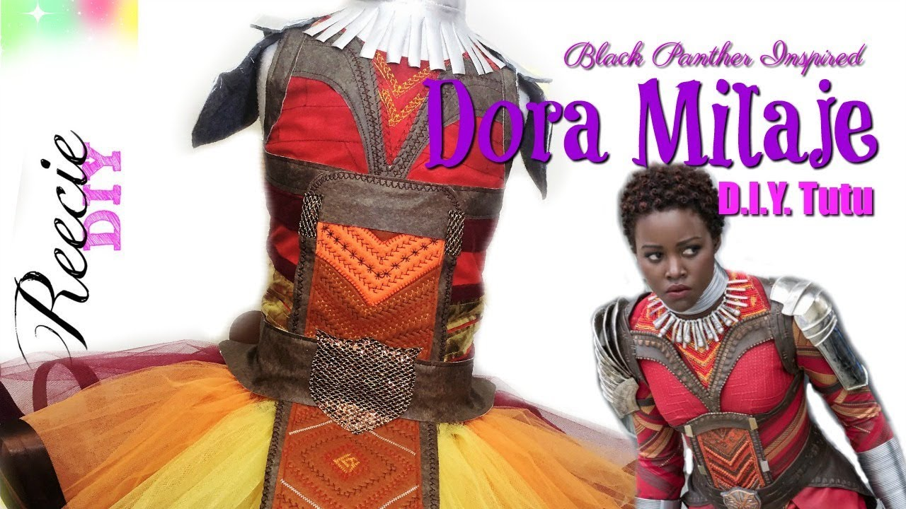 48bd9aae6a2f How to make a Dora Milaje Costume Tutu Dress - Black Panther Inspired  Costume