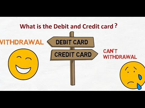 Hindi What Is The Debit Card And Credit Card