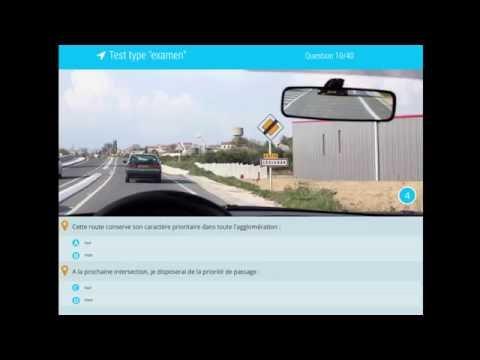 Examen code de la route 2017 - Série de 40 questions avec correction. Permis de conduire.