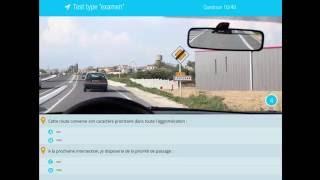 Examen code de la route 2018 - Série de 40 questions avec correction. Permis de conduire.