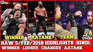This video is about raw february 5, 2018 Highlights in hindi, kurt ...