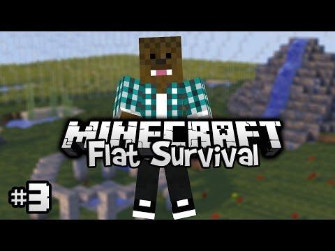 Minecraft - Flat Survival - Mergem la Minerit! [Ep.3]