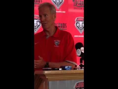 Bob Davie at UNM football press conference