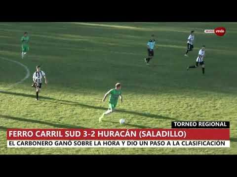 #TorneoRegional Resumen del partido de Ferro Carril Sud 3 - 2 Huracán de Saladillo