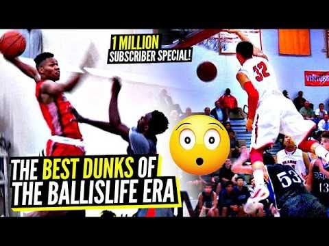DON'T JUMP! The ABSOLUTE CRAZIEST DUNKS of The BALLISLIFE ERA!!! 1 Million Sub Special!