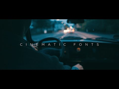 CINEMATIC FONTS - Meine Top 5 Lieblings Schriftarten für Videos!