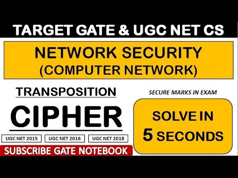 TRICKS To Solve Transposition Cipher in 5 Seconds (Network Security)- GATE  & UGC NET CS Exam