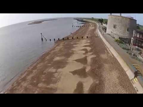 Felixstowe beach views DJI phantom v plus