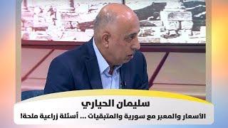سليمان الحياري – الأسعار والمعبر مع سورية والمتبقيات ... أسئلة زراعية ملحة!