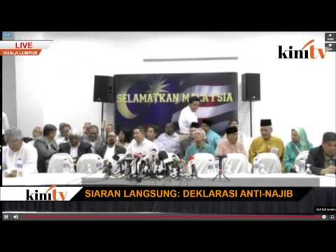 LIVE: Anti-Najib Declaration