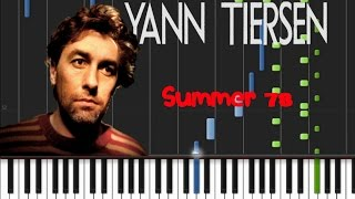 Yann Tiersen - Summer 78 [Synthesia Tutorial]