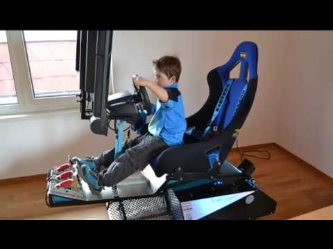 Homemade Motion Simulator  Racing Simulator  Raceday