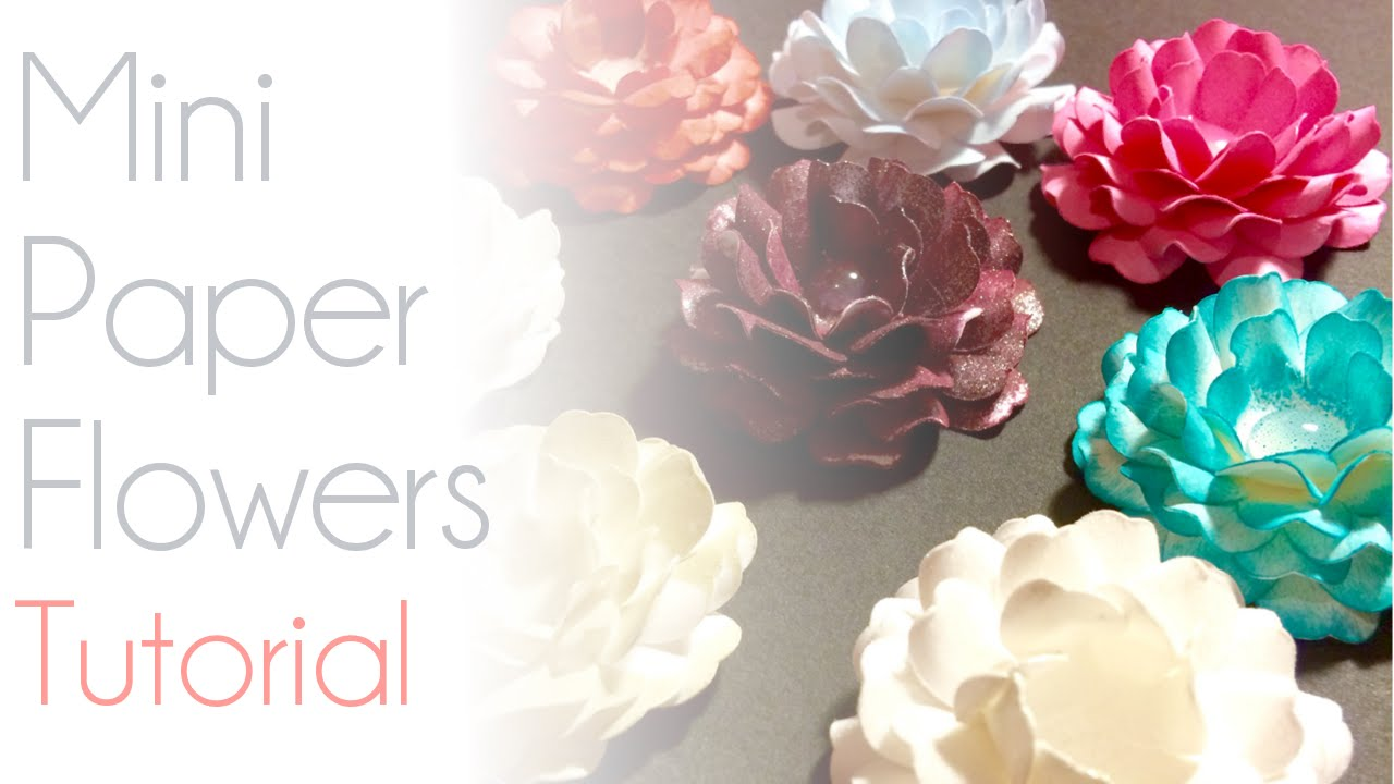 Modern miniature paper flowers collection images for wedding gown mini paper flowers cricut tutorial youtube mightylinksfo