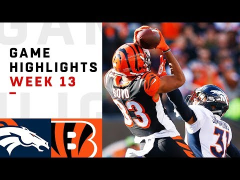 Broncos vs. Bengals Week 13 Highlights | NFL 2018