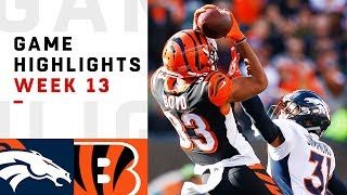 Broncos vs. Bengals Week 13 Highlights