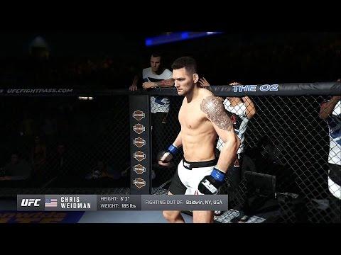 EA Sports UFC 2 Luke Rockhold vs. Chris Weidman FULL FIGHT (Xbox One, PS4)