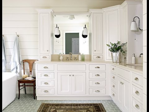L Shaped Bathroom Vanity Youtube