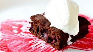 Брауни с вишней ☆ Chocolate brownie with cherries