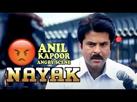 Anil Kapoor Angry on Police Officer Scene | Nayak Movie