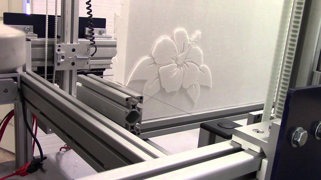 Hot Wire CNC Foam Cutter - Preview - YouTube