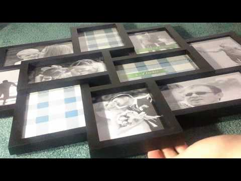 BestBuy Frames Large 10 4x6 Wall Hanging Collage Picture Frame Black, Artistic 3D Puzzle Style, Perf