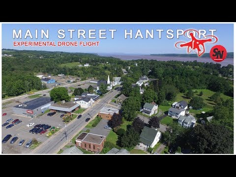 DRONE FLIGHT 1  :  AERIAL VIEW OF HANTSPORT NOVA SCOTIA