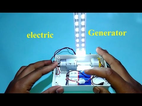 How to make electric generator at home use dc motor simple for Making an electric motor