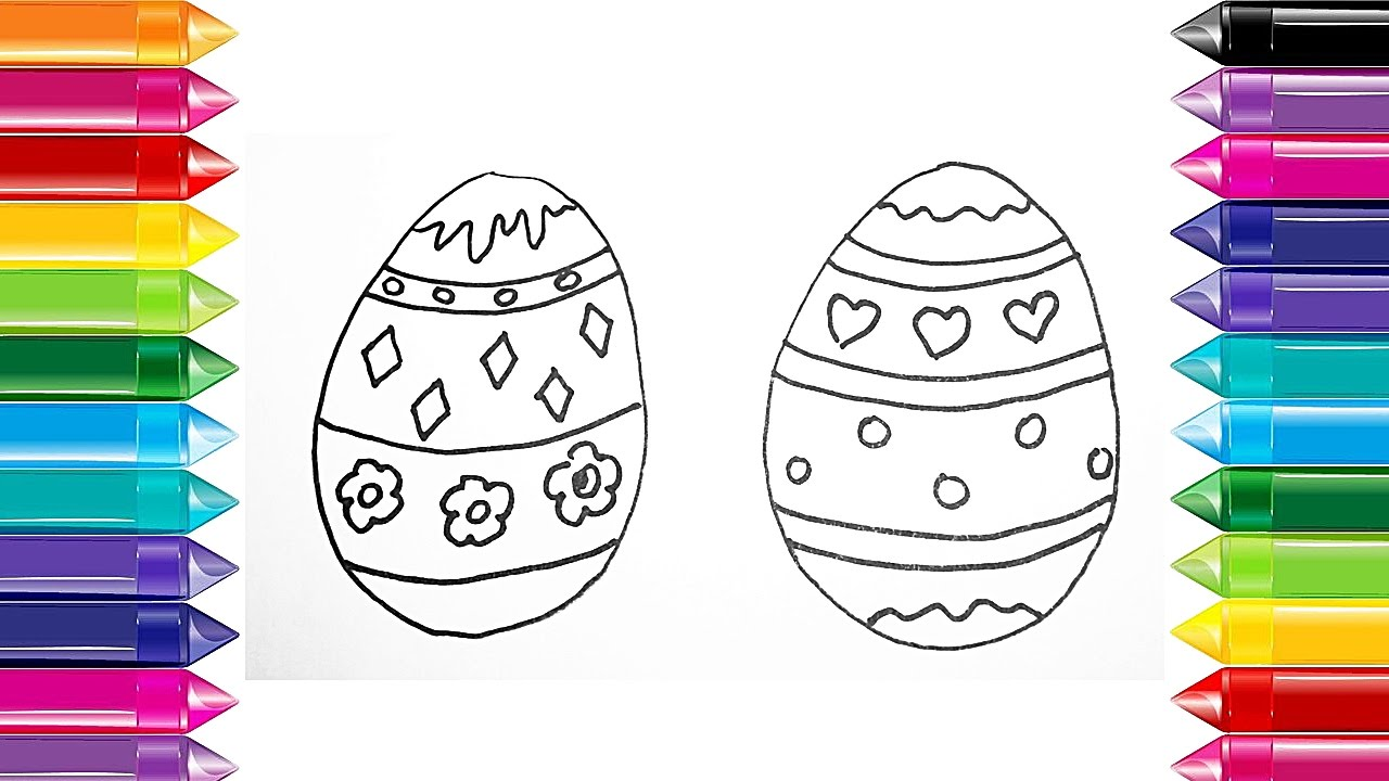 Draw Color Easter Egg Ideas For Drawings Designs