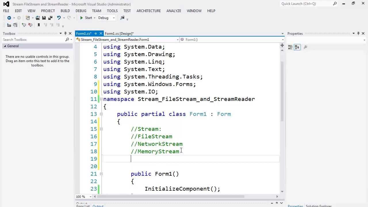 76. التعامل مع الملفات - الفئات Stream, FileStream, and StreamReader