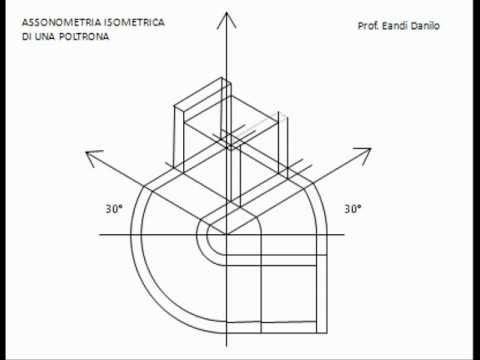 Assonometria isometrica di una poltrona youtube for Sedia steltman