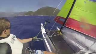 Big Wind Hobie 16 Speed Run