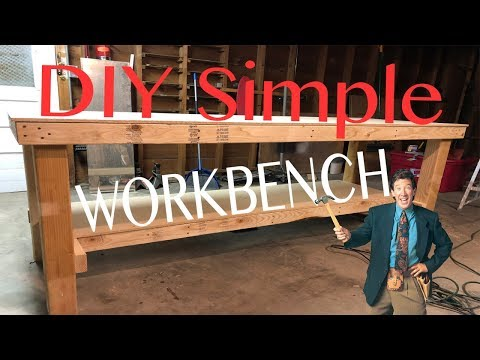 HOW TO BUILD A DIY SIMPLE WORKBENCH