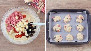 Сырные оладьи с помидорами - Рецепты от Со Вкусом