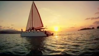 Cruising catamaran- In the water of Koh Samui, Thailand