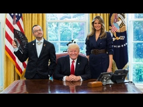 LGBTQ teacher's oval office picture goes viral