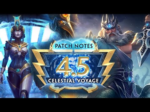 SMITE Patch 4.5 Celestial Voyage | Poseidon Remodel | Patch Notes Review
