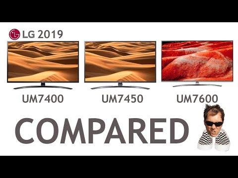 LG UM7400 UM7450 UM7600 Differences compared 2019 4K Smart TV's