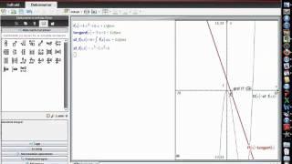 Stamfunktion med givet tangent i TI-nspire CAS