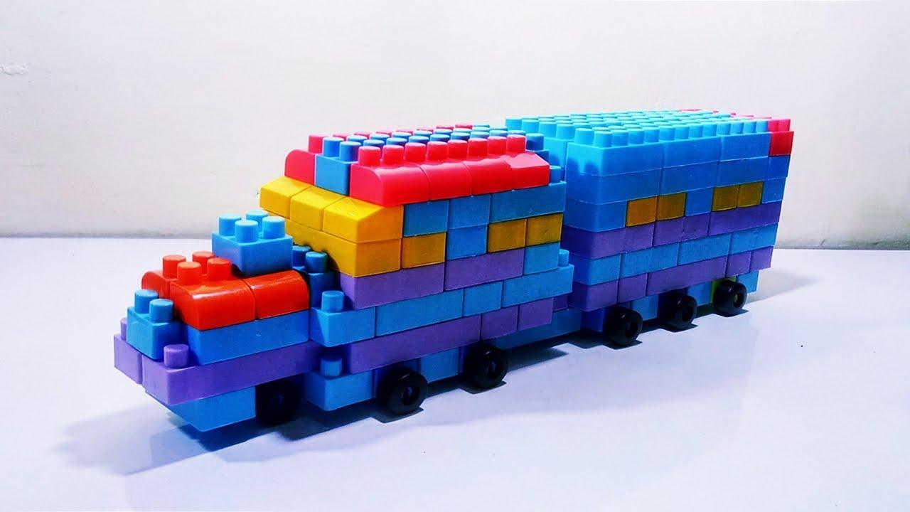 Cara Membuat Kereta Api dari Lego Block (Kreatif) - YouTube