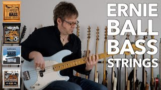 Ernie Ball - BASS STRINGS - Comparison