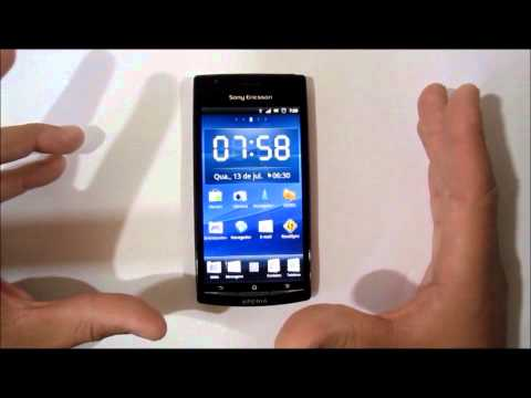 Video Review do Xperia arc com Android Gingerbread