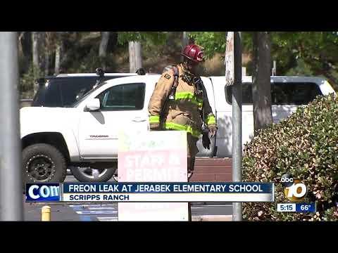 Freon leak at Jerabek Elementary School