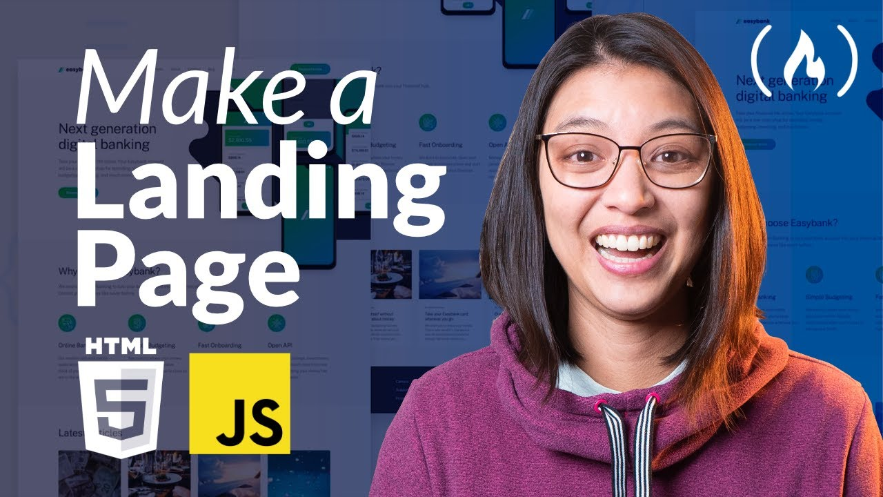 How to Make a Landing Page using HTML, SCSS, and JavaScript