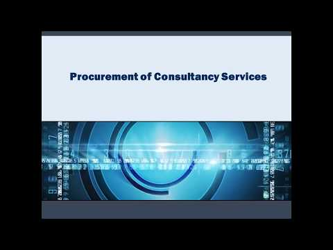 Procurement of ConSultancy Services | PPRA Rules | Punjab Procurement Regulatory Authority